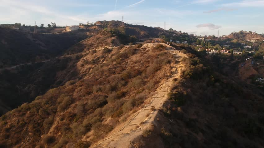 Aerial view of canyon of Hollywood | Shutterstock HD Video #1025927063
