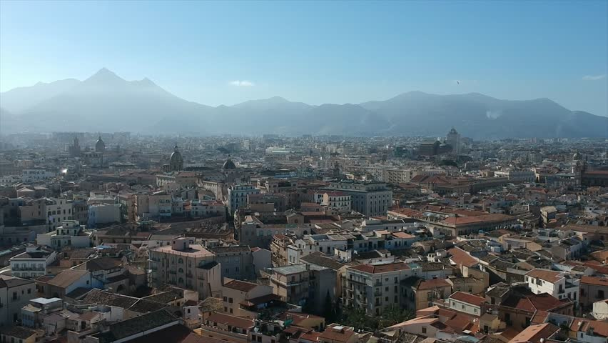 Aerial view of Palermo, Sicily, Italy | Shutterstock HD Video #1025974733