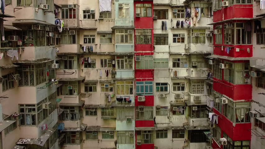 Yick Cheong Buildings, Quarry Bay, Hong Kong by Drone | Shutterstock HD Video #1026179963