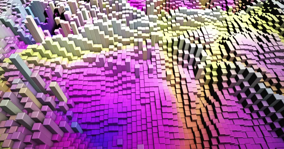 An abstract 3D rendered video of motion, geometry, and color. | Shutterstock HD Video #1026200873