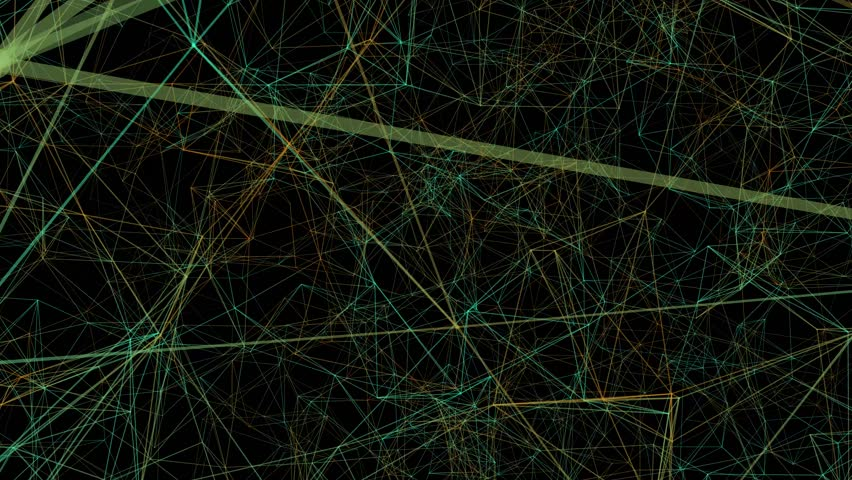 Green Plexus abstract technology background. Network, web lines 3D illustration.  | Shutterstock HD Video #1026246323