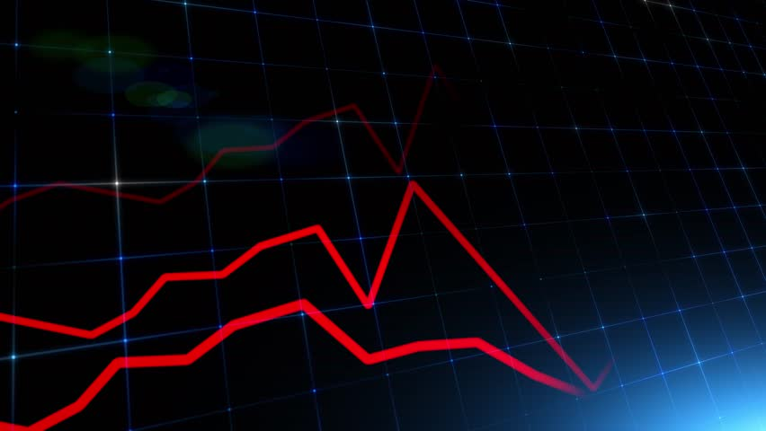 Artistic financial business chart with red diagrams and blurry stock numbers showing losses over time.    Shutterstock HD Video #1026251423