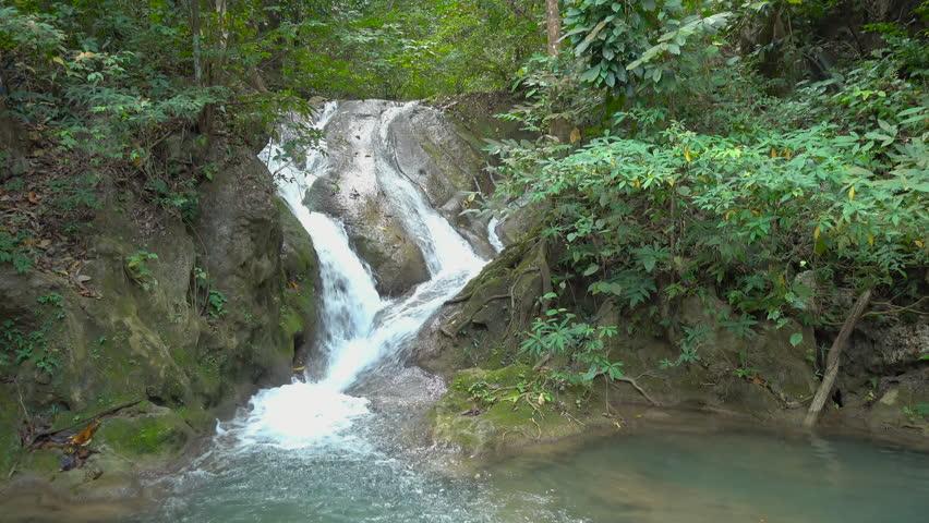 Erawan Waterfall, in National Park at Kanchanaburi, Thailand