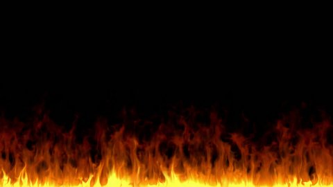 Fire flame motion background. Rendered with alpha channel in 4K. Easy to use, just place the clip over your footage. Ideal for visual effects & motion graphics.