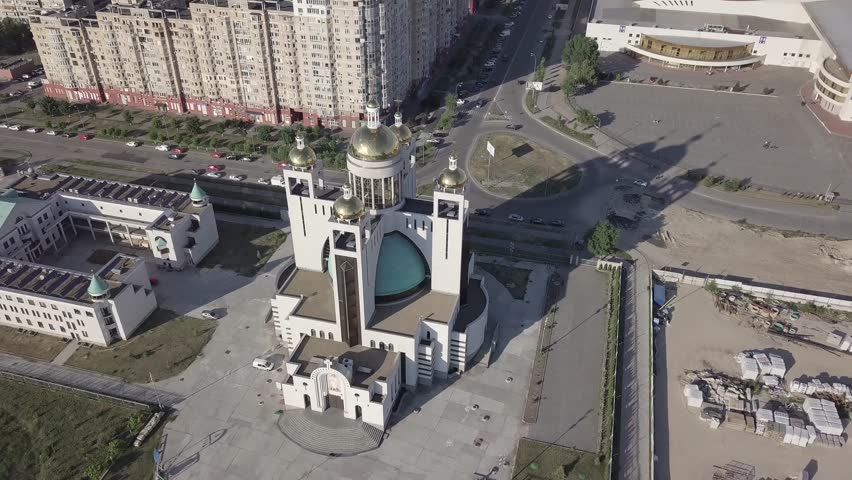 Aerial view of the temple in Kiev #1026471383