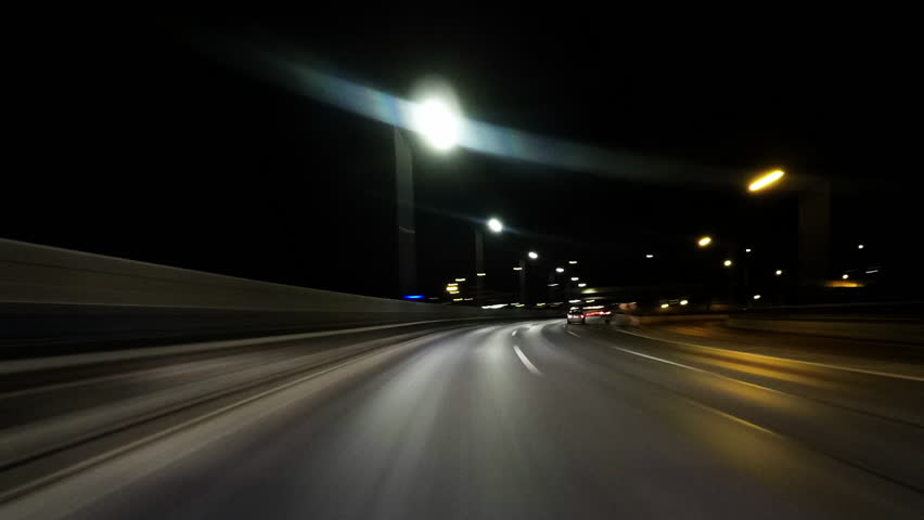 POV Timelapse out of aing car at night | Shutterstock HD Video #1026489863