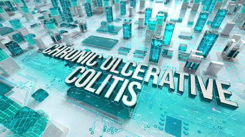 Chronic Ulcerative Colitis with medical digital technology concept