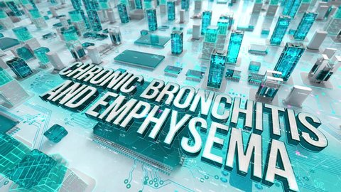 Chronic Bronchitis and Emphysema with medical digital technology concept