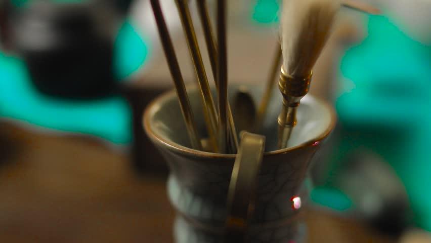 Incense burning ceremony   Shutterstock HD Video #1026730403