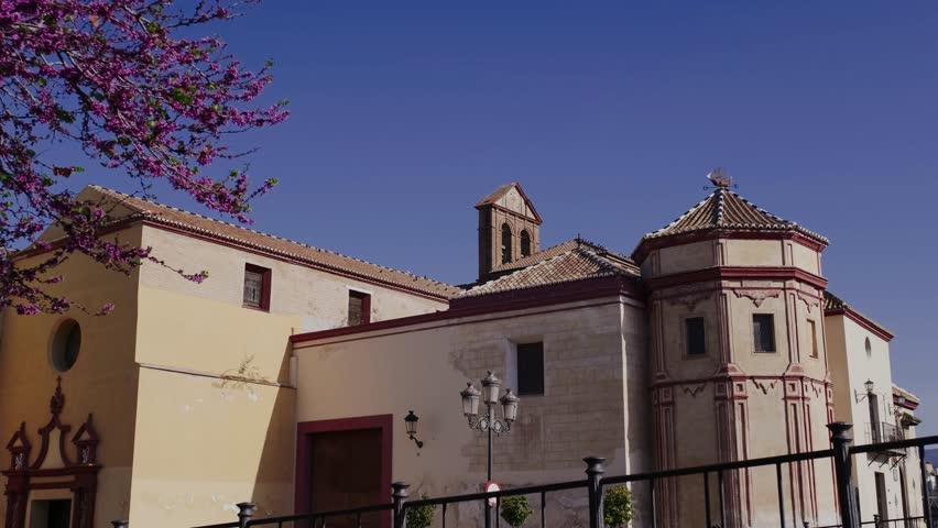 Mediterranean old abbey in Malaga - Spain | Shutterstock HD Video #1026744053