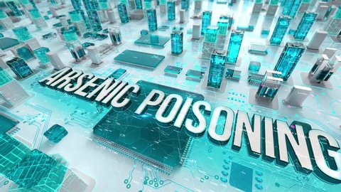 Arsenic Poisoning with medical digital technology concept