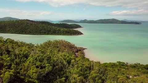 Whitsundays harbour aerial