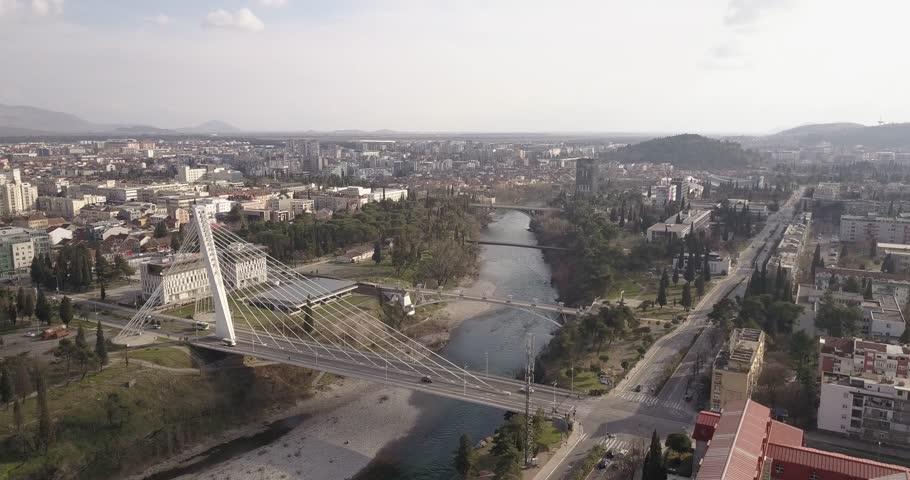 Aerial view Podgorica  | Shutterstock HD Video #1027011053