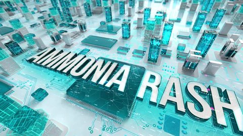 Ammonia Rash with medical digital technology concept