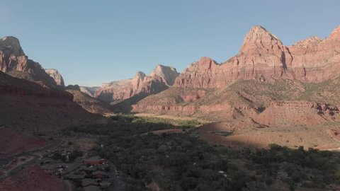 Drone footage of Zion National Park Arizona. - Ungraded D-Cinelike footage (gives you the flexibility and dynamic range.)