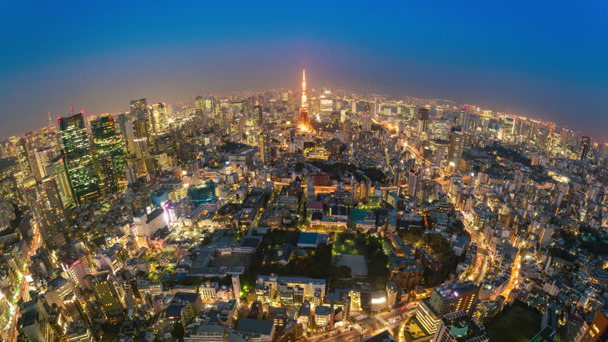 4k timelapse video Tokyo from sunset to night | Shutterstock HD Video #1027062503