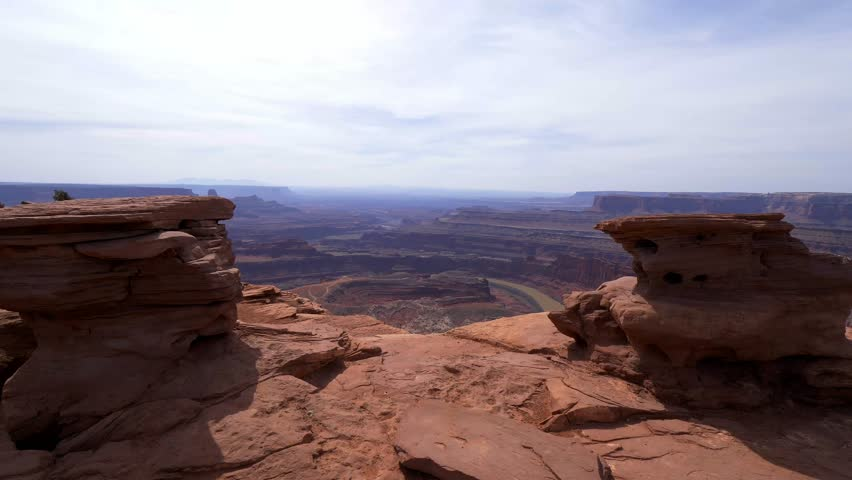 Dead Horse Point in Utah - wide angle view