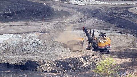 Mining truck working.