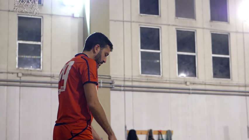 """Rome,Italy,""""20 January 2019: volleyball player serving the ball during match.Sport,strenght,agonism 