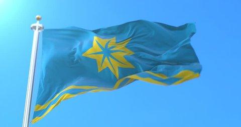 Flag of the city of Volzhsky in Volgograd Oblast, Russia. Loop