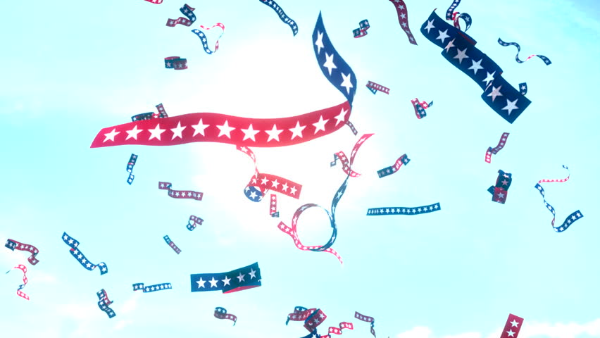 Ticker Tape Stars And Stripes US USA America Presidential Election - Hd us election map