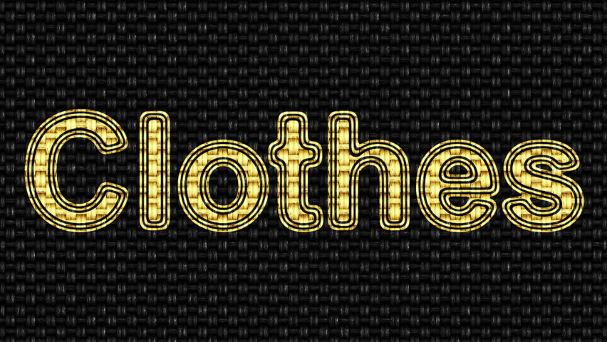 Clothes. Looping footage. Illustration. | Shutterstock HD Video #1027780493