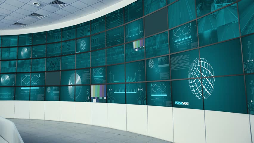 Mission Control News Virtual Set Background for Green Screen Productions | Shutterstock HD Video #1027784873