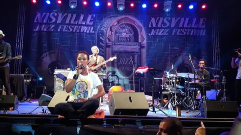 NIS, SERBIA, AUGUST 11: Lisa Simone, daughter of famous Nina Simone, performing on Nisville Jazz festival on August 11, 2018 in Nis, Serbia.