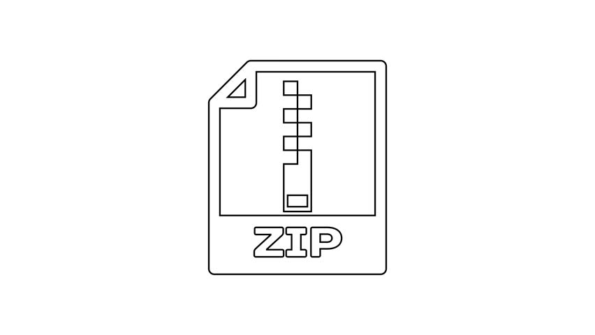 Black Zip File Document Icon  Stock Footage Video (100% Royalty-free)  1027925183 | Shutterstock