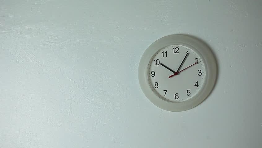 White wall clock ticking | Shutterstock HD Video #1027961453