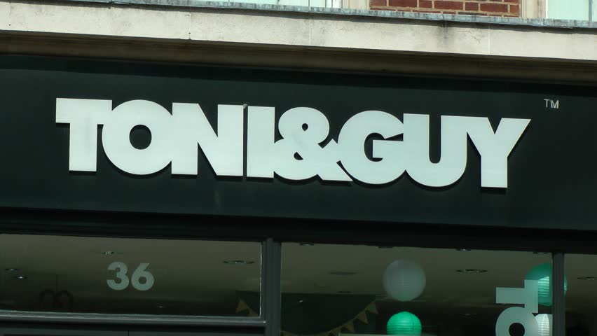 Toni & Guy hair salon front. Hull City Centre. Long shot and close up 16/04/2019 | Shutterstock HD Video #1027986413