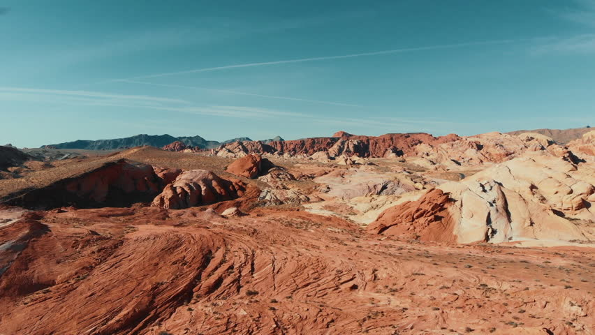 Flying over Valley of Fire | Shutterstock HD Video #1028111153