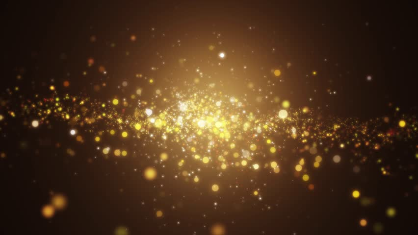 Background gold movement. Universe gold dust with stars on black background. Motion abstract of particles. VJ Seamless loop. 4k #1028182613
