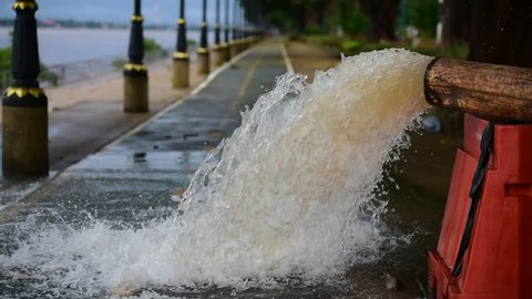 Drainage, pumping water from flooded areas