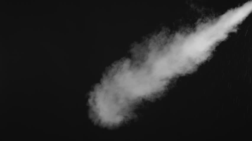 White water vapour on a black background. Close-up shot 4k | Shutterstock HD Video #1028265263