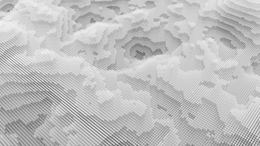 Fractal background from layersed animated circles. Topographic map, terrain like abstract backdrop