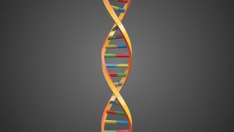 Abstract DNA Double Helix rotating loop with Alpha Channel