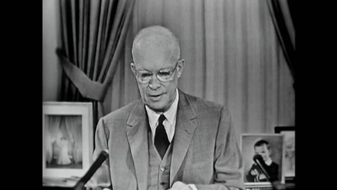 CIRCA 1950s - Dwight Eisenhower speaks science education and the Soviet Union and the Cold War in 1957.