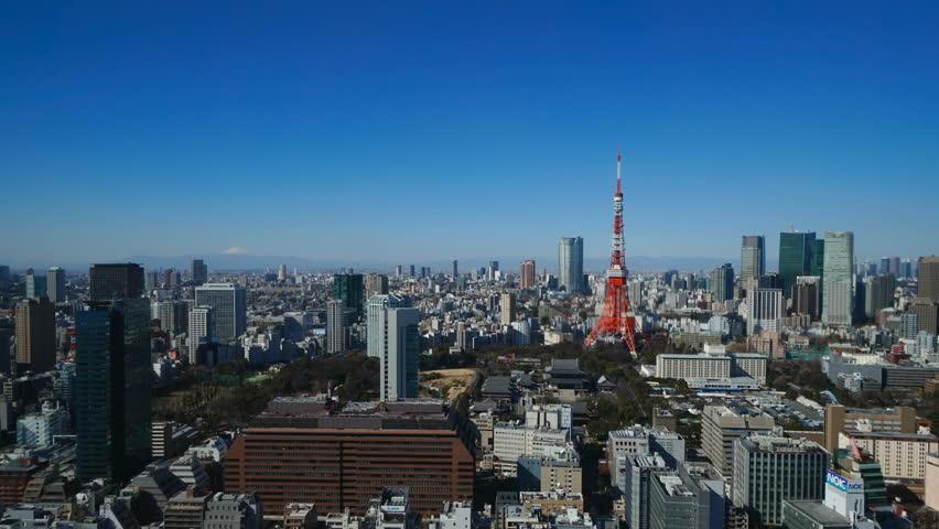 Mount Fuji and Tokyo timelapse | Shutterstock HD Video #1028506553