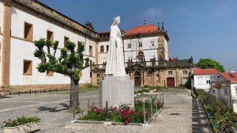 Coimbra/Portugal-May 1, 2019:The Monastery of Santa Clara-a-Nova in Coimbra, Portugal