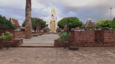 Phitsanulok Buddism Aerial Shot of Phitsanulok Buddism Phitsanilok Province, Thailand