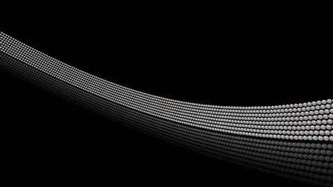 4K Balls of Sliver Strip Animation Motion Background