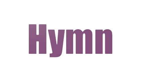 Hymn Tag Cloud Animated Isolated