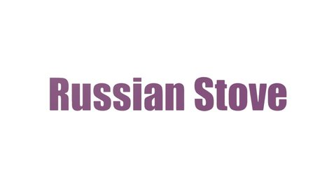 Russian Stove Word Cloud Animated Isolated On White