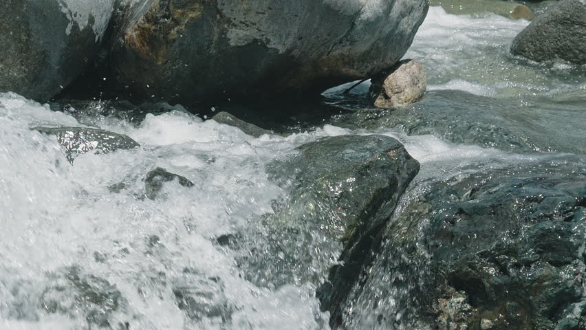 Clear water of River close up slow motion (180fps) in Nagano, Japan.  | Shutterstock HD Video #1029133223