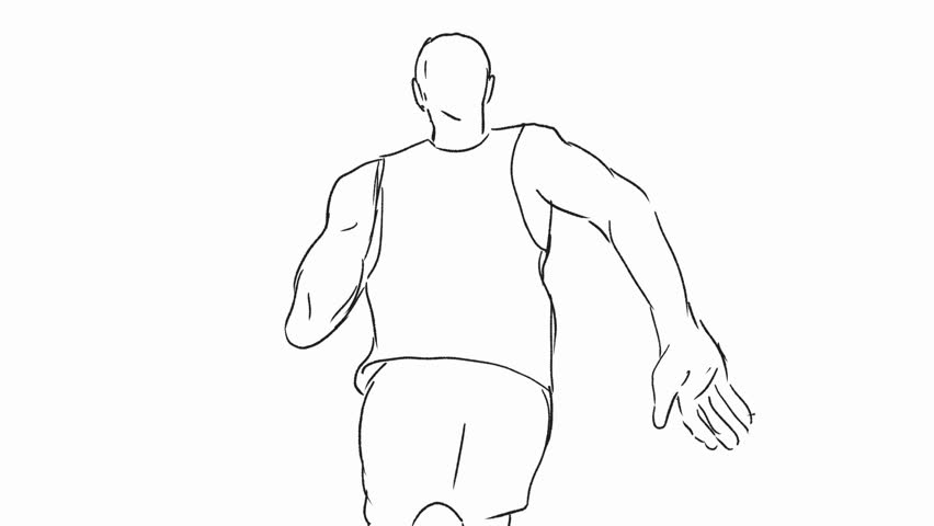 Animation Gait Stock Video Footage