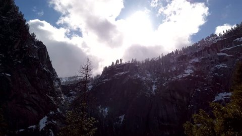 Yosemite Cliff Faces Stock Video Footage - 4K and HD Video