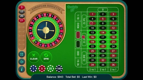 Playing Online Casino Gambling Roulette Wheel Game On The Digital Tablet
