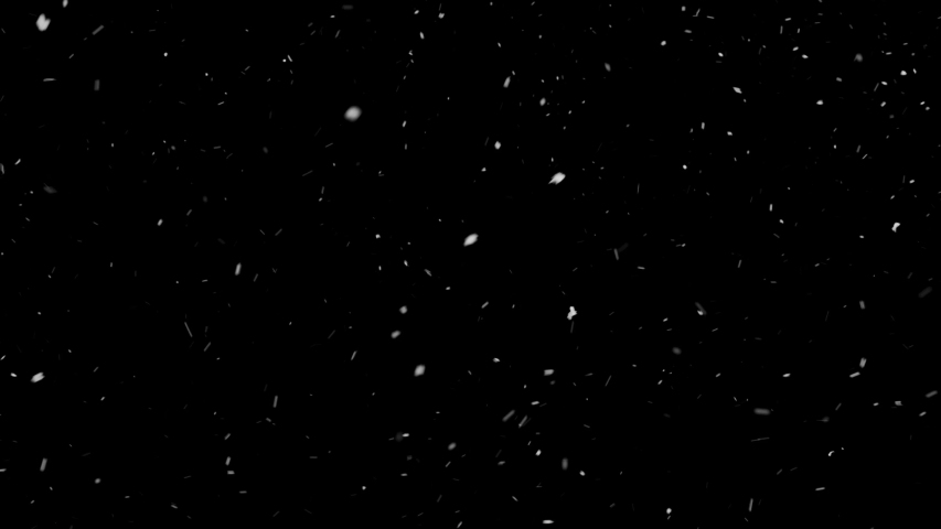 Winter real snow slow motion fall effect. Snow storm isolated on black background in 4K to be used for composing, motion graphics, or as a background or overlay. | Shutterstock HD Video #1029470033