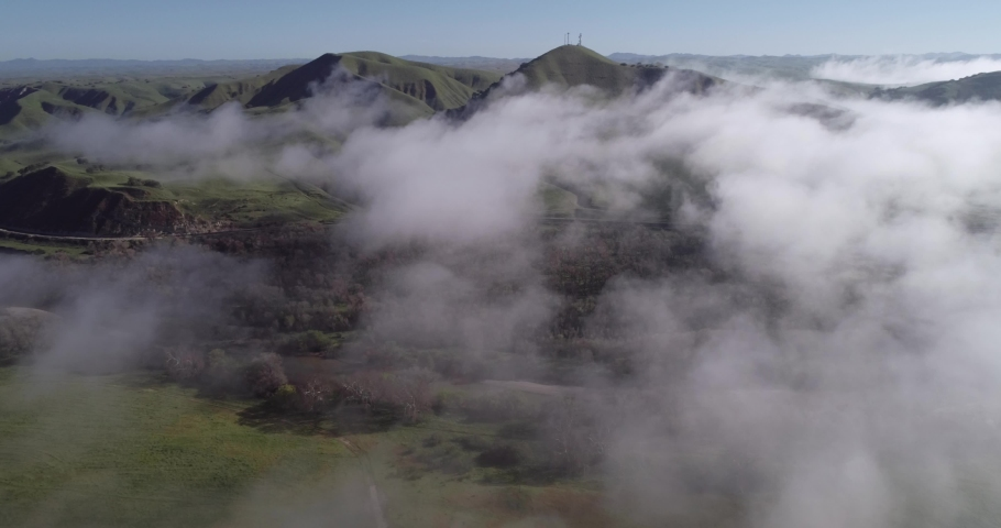 Landscape and Nature above the cloud in the California. Mountain in Background. 4k | Shutterstock HD Video #1029527903
